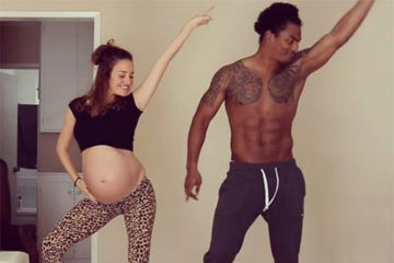 Gemma Marin pregnant dancing