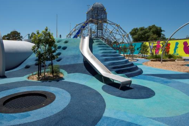 The new Booran Reserve playground in Glen Huntly