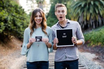 ultrasound pregnancy announcement photo idea
