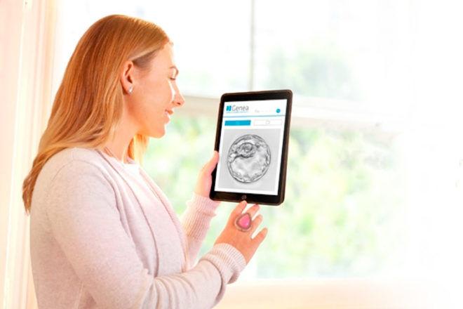 Genea App IVF watching on ipad