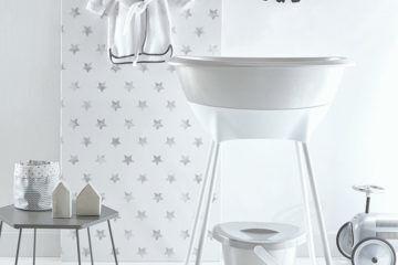 luma babycare sparkling silver bath set