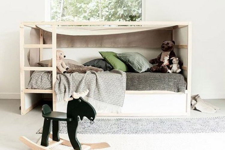 5 Easy And Stylish Makeovers For The Ikea Kura Bed Mum S Grapevine