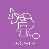 Double breast pump icon