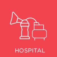 Hospital grade breast pump icon