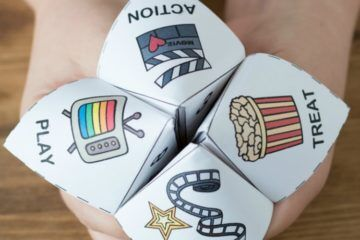 Brendid movie night selector cootie catcher