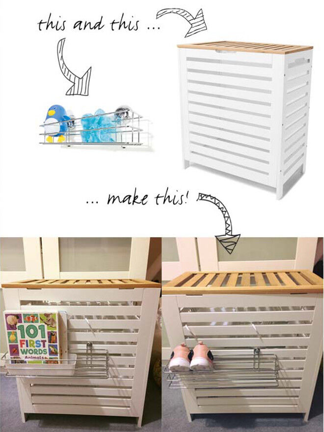 Kmart hacks for book and toy storage