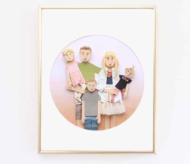 11 custom family portraits with an artistic twist