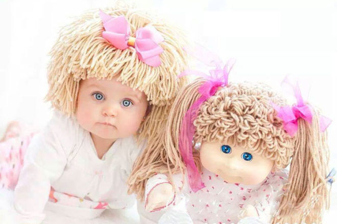 Yumbaby Cabbage patch doll wig blonde Etsy