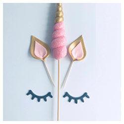 Unicorn Cake Topper Horn Ears