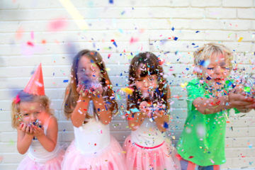 Confetti fight for new year's eve