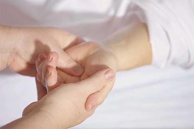Hand massage to calm down kids