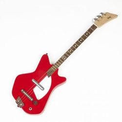 Red kids' electric guitar Loog