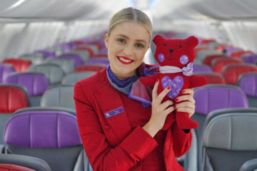 Virgin Australia recycles uniforms to make teddies