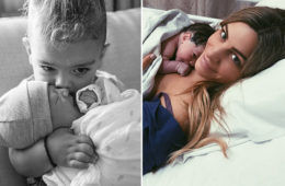 Bec and George Durous welcome baby boy Lenny