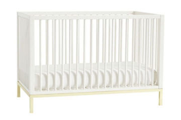 Pottery barn kids flynn cot gold legs