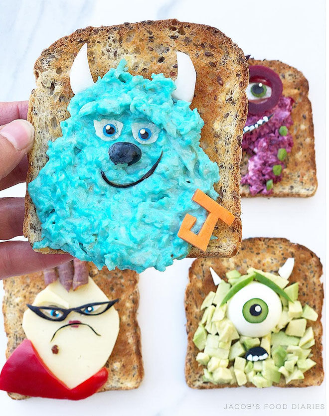 Monsters Inc sandwiches: Jacobs Food Diary