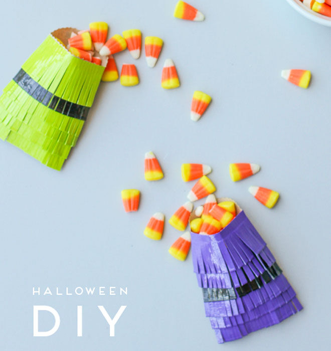 Easy Halloween treat pouches