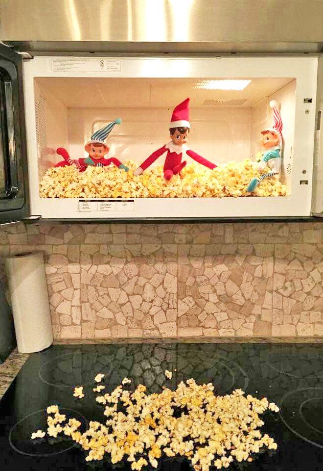 Elf on the Shelf popcorn