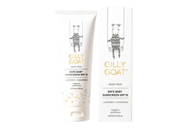 Gilly Goat natural sunscreen