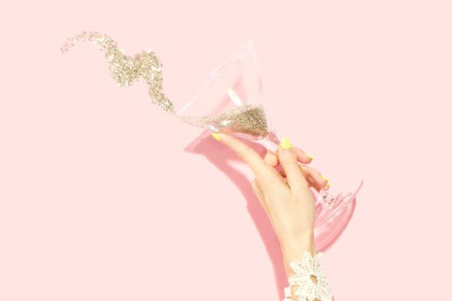 Glass of glitter