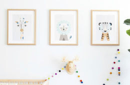 Scandi style nursery prints by Little Design Haus
