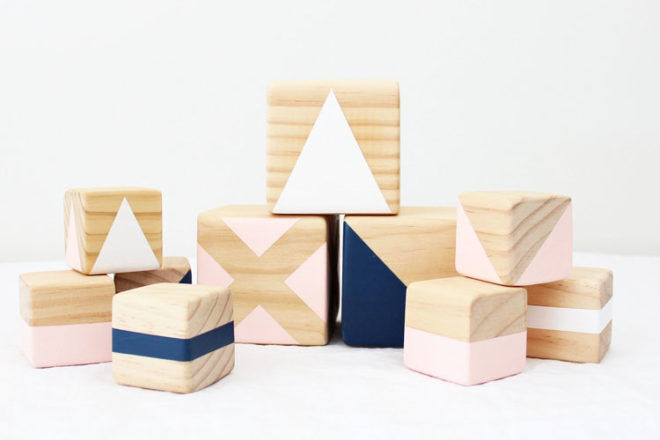 Handmade wooden stacking blocks by Gold Rabbit & Co