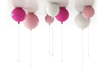Pink balloon pendant lights