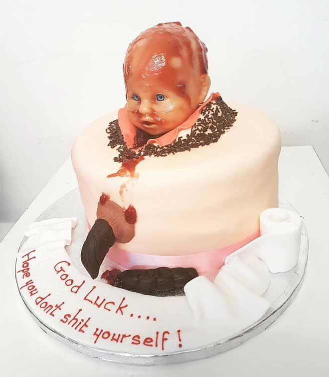 Strange The Worlds Worst 30 Birthing Cakes Mums Grapevine Personalised Birthday Cards Cominlily Jamesorg