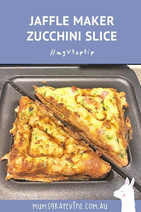 Jaffle maker zucchini slice hack for babies and toddlers