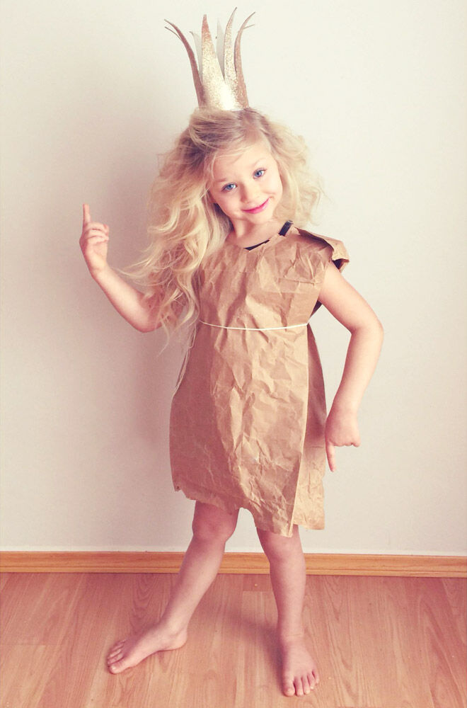 DIY Paperbag Princess costume, Book Week