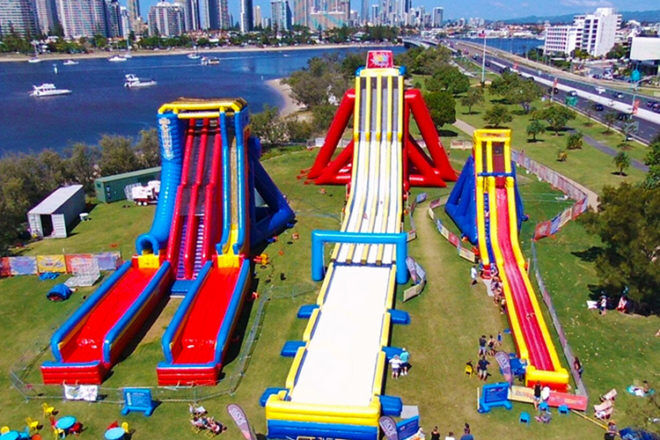 The Big Wedgie waterslide