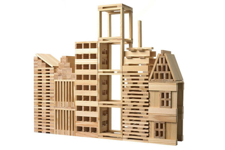 Best toys for 5 year olds: Wooden Natural Planks building set, Q Toys