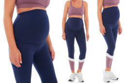 Rockwear Maternity Colour Block Full-Length Tights
