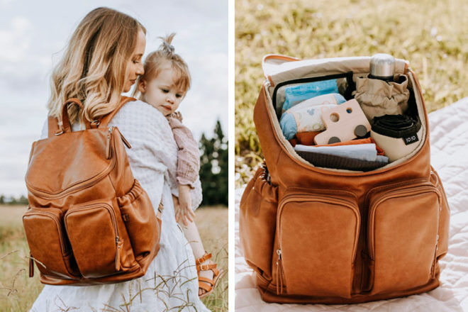 Best Nappy Bag: OiOi Faux Leather Nappy Backpack