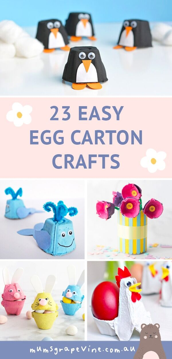 23 Easy Egg Carton Crafts for Kids | Mum's Grapevine