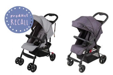 Childcare strollers recalled