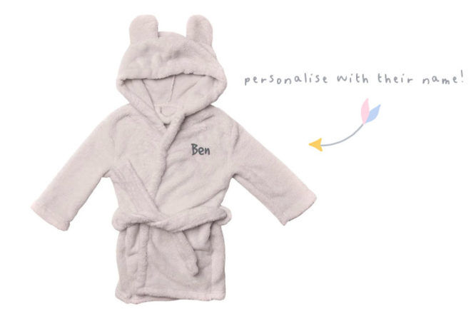 Best kids dressing gowns: Identity Direct personalised dressing gown