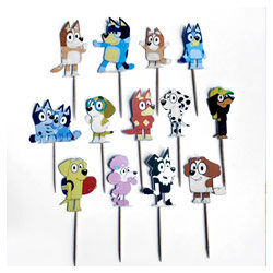 Bluey cake toppers