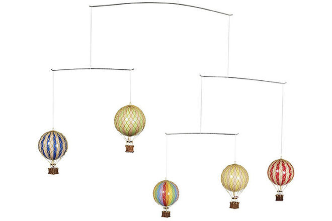Best Cot Mobile: Authentic Models Hot Air Balloon Mobiles