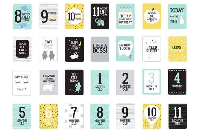 Best Baby Milestone Cards: Tiny Little Wonders - Kmart