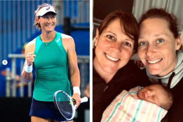 Sam Stosur tennis champ baby girl