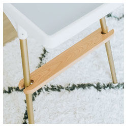 Ikea high chair wooden footrest