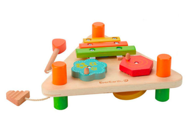 Best Toys for 1 Year Olds: EverEarth Flip Over Triangle Music Set