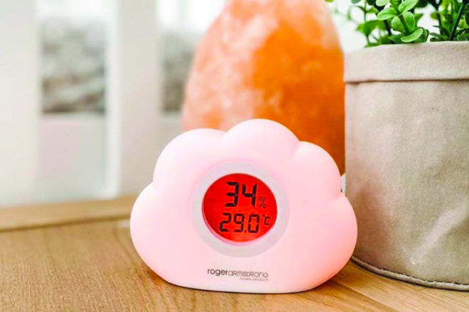 Baby Room Thermometer: Roger Armstrong Sleep Easy Cloud