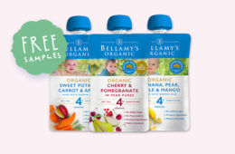 Free baby food samples Bellamy's Organic