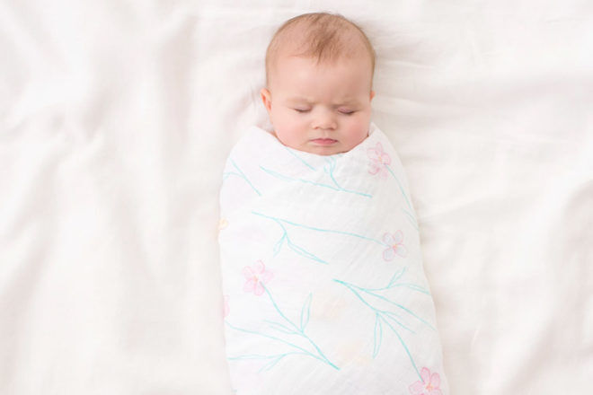New Baby Gifts: Aden and Anais Forest Fantasy Flowers Swaddle