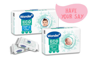 Product tester Wonder Eco nappies and wipes