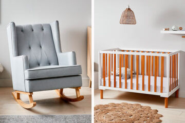 Kmart nursery chair and cot