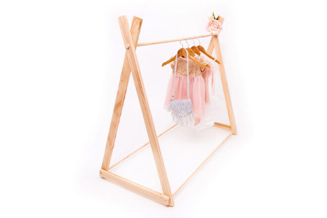 Hope and Jade Fixed Base Children's Clothes Rack