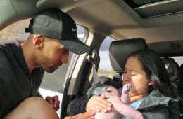 Dashcam baby birth